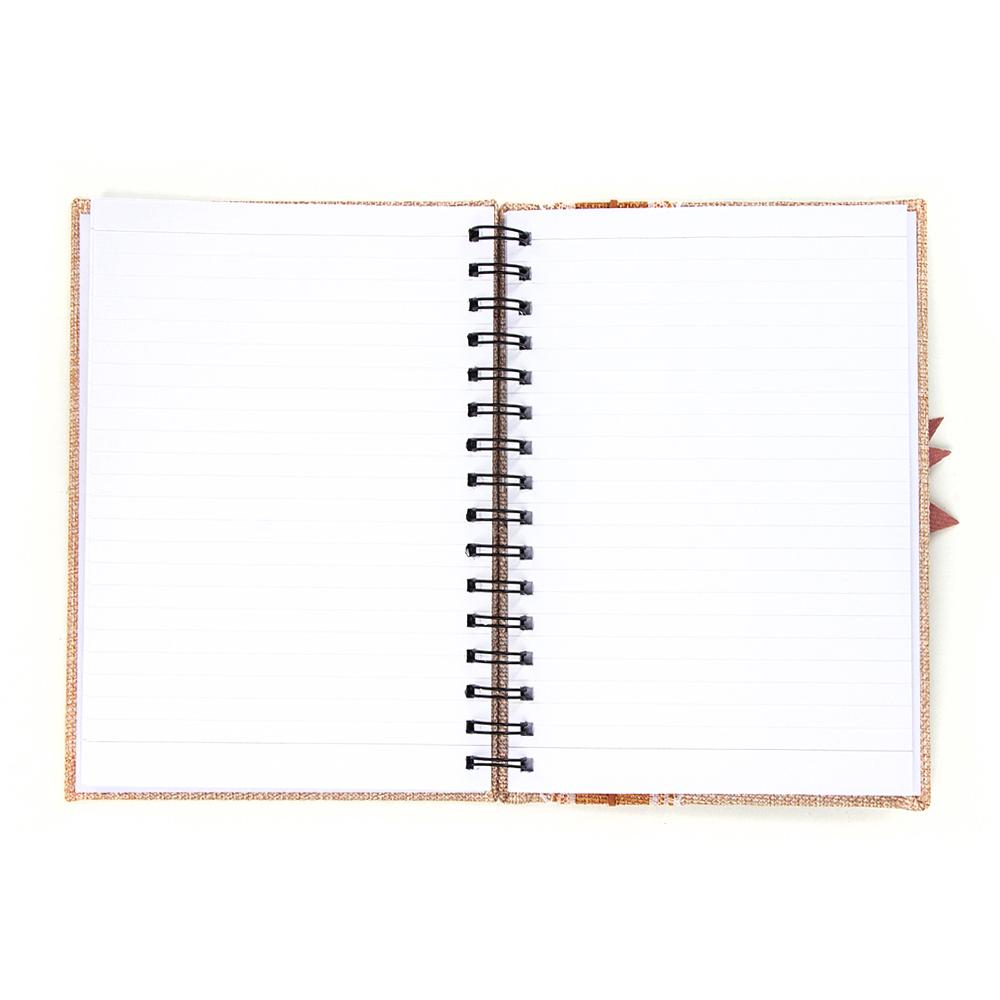 Записная книжка с объемной аппликацией А5 100л., тв.обложка, бежевая, бумага, полиэстер, пластик