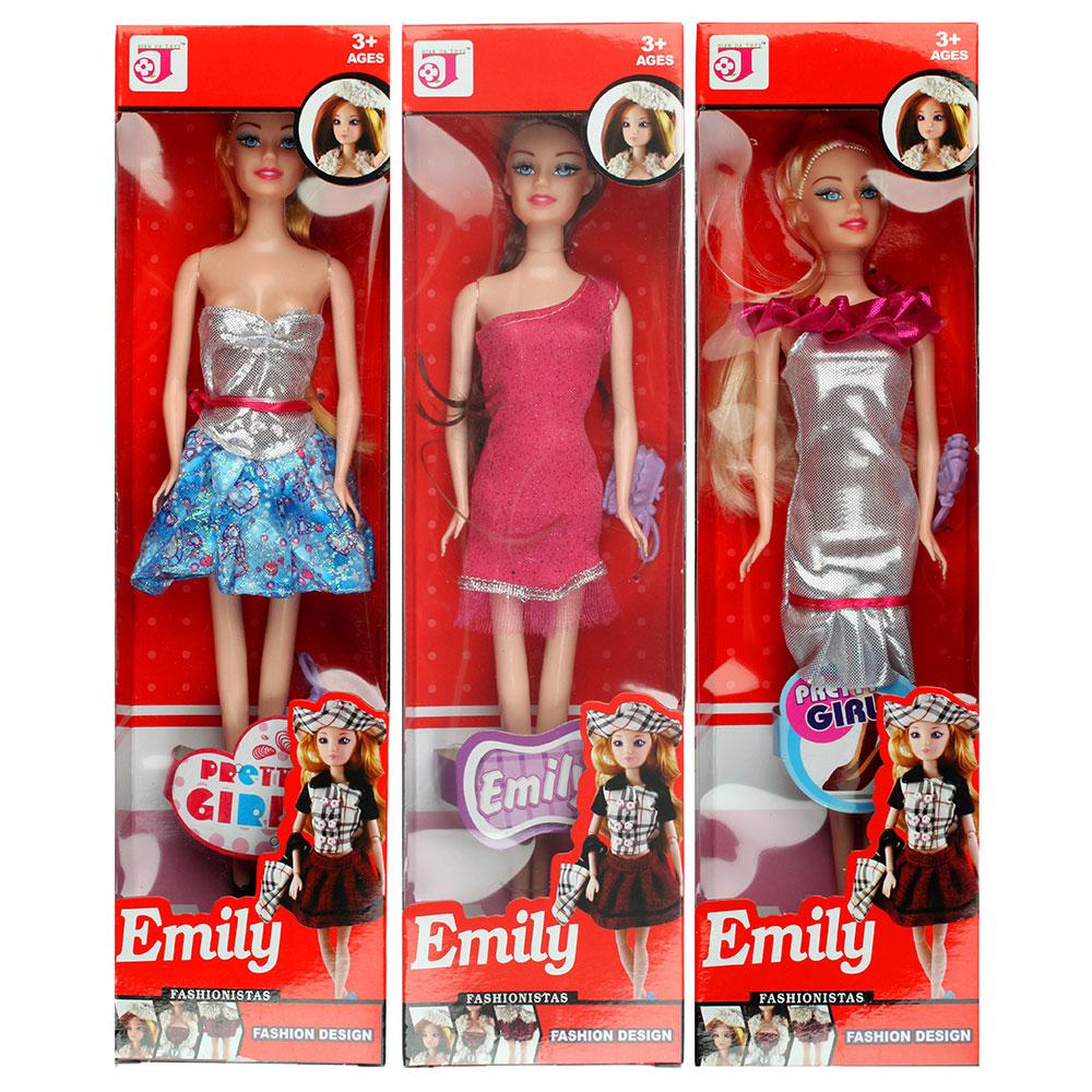 Кукла 29см, пластик полиэстер, 6х29х3см, 3 дизайна