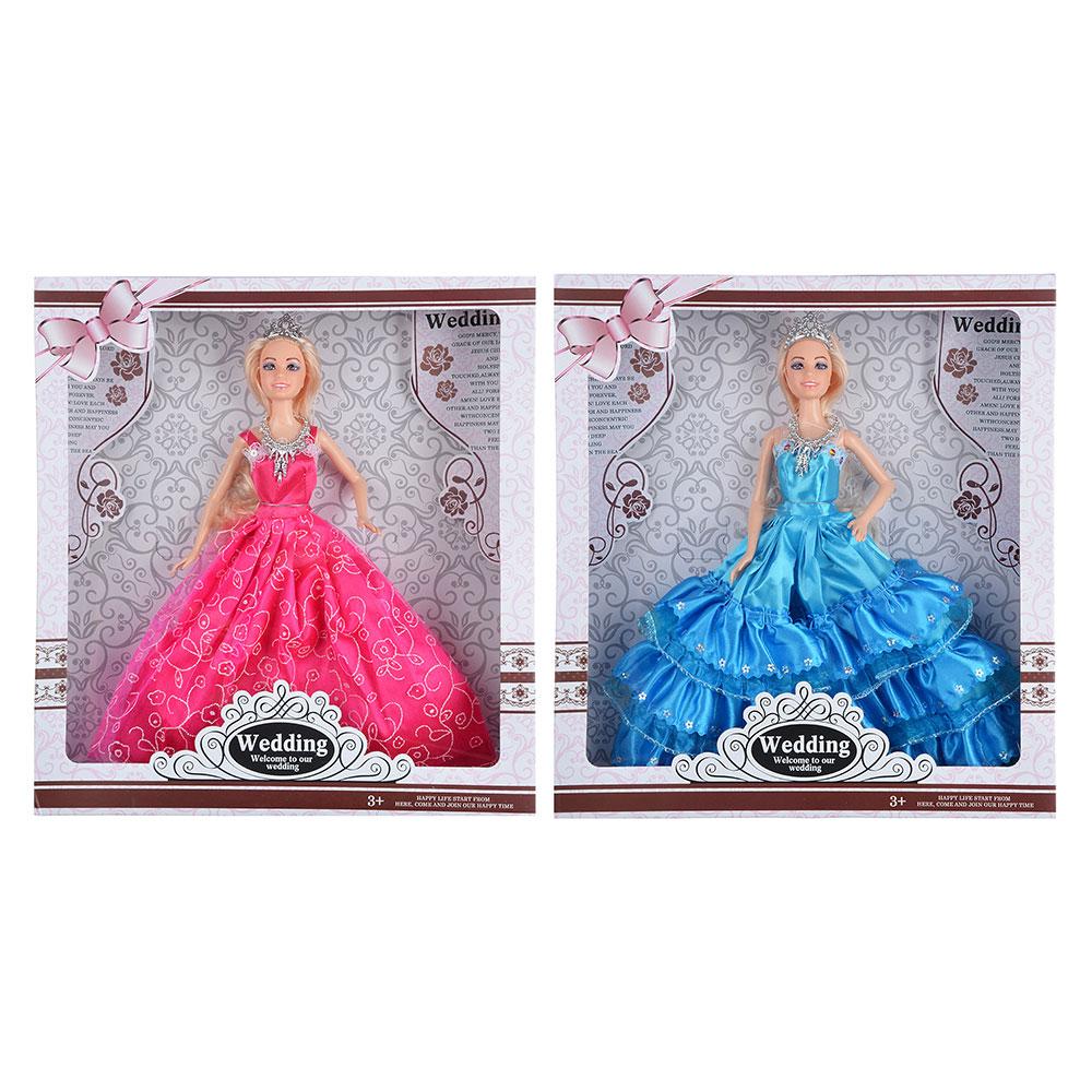 Кукла 29см в нарядном платье, пластик, полиэстер, 2 дизайна