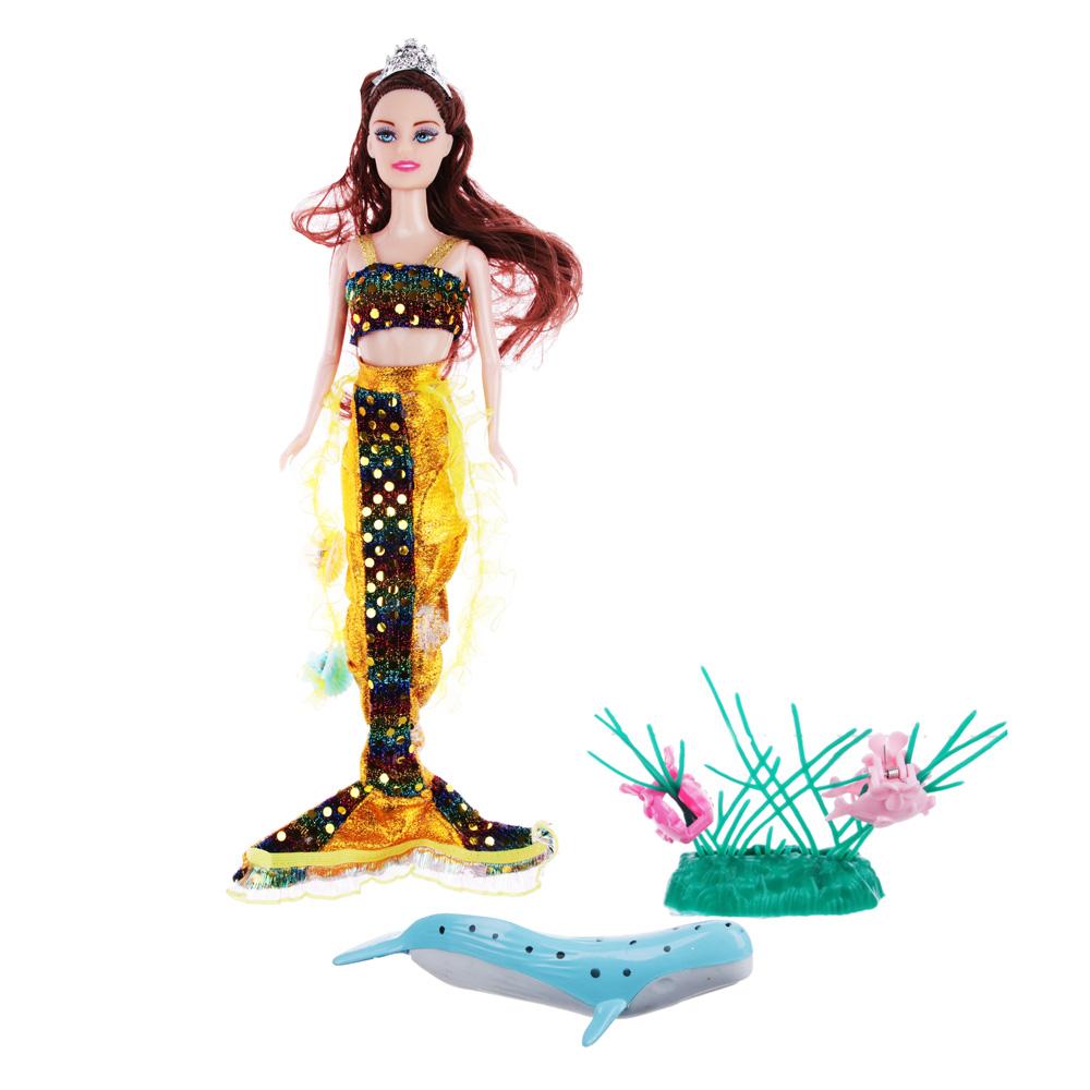 Кукла Русалка с аксессуарами, 29см, пластик, полиэстер, 3 дизайна