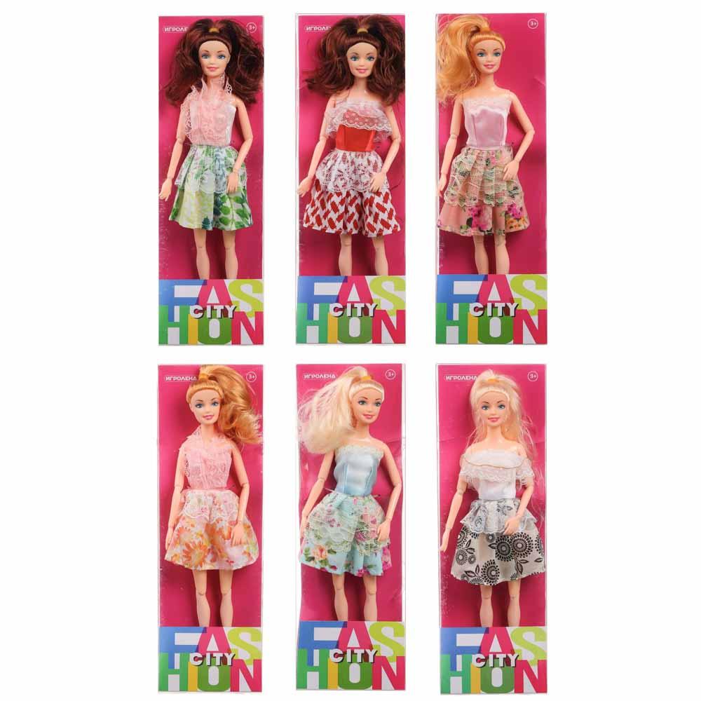 Кукла шарнирная в одежде, 29см, пластик, полиэстер, 6 дизайнов