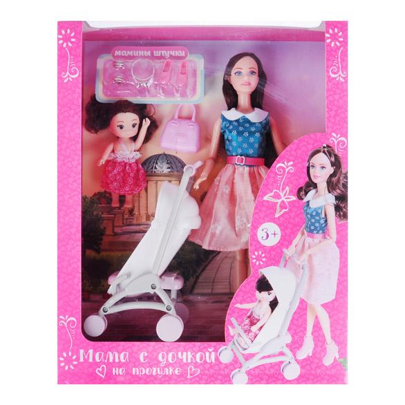 ИГРОЛЕНД Кукла с аксессуарами, 7-12 пр., пластик, полиэстер, 18х32х6,5см, 3 дизайна