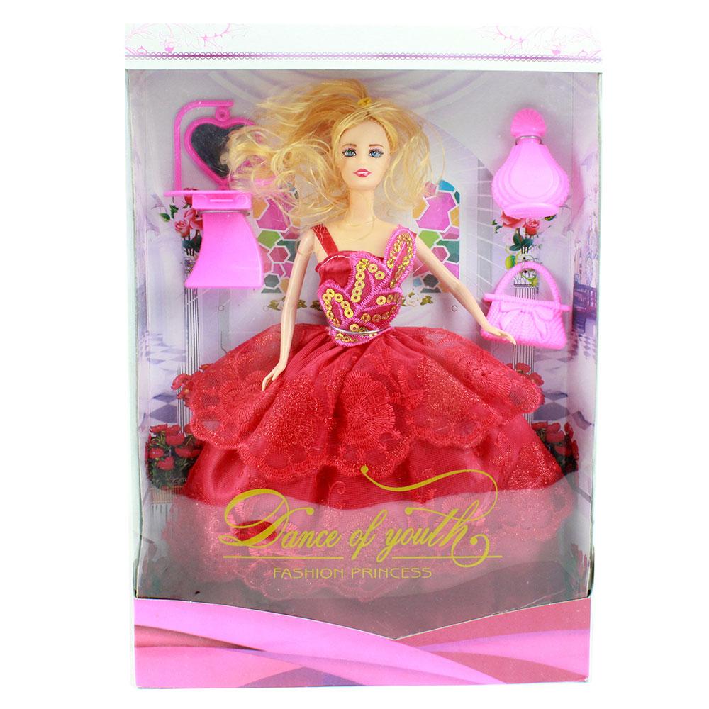 Кукла в бальном платье 29см, пластик, полиэстер, 7 дизайнов