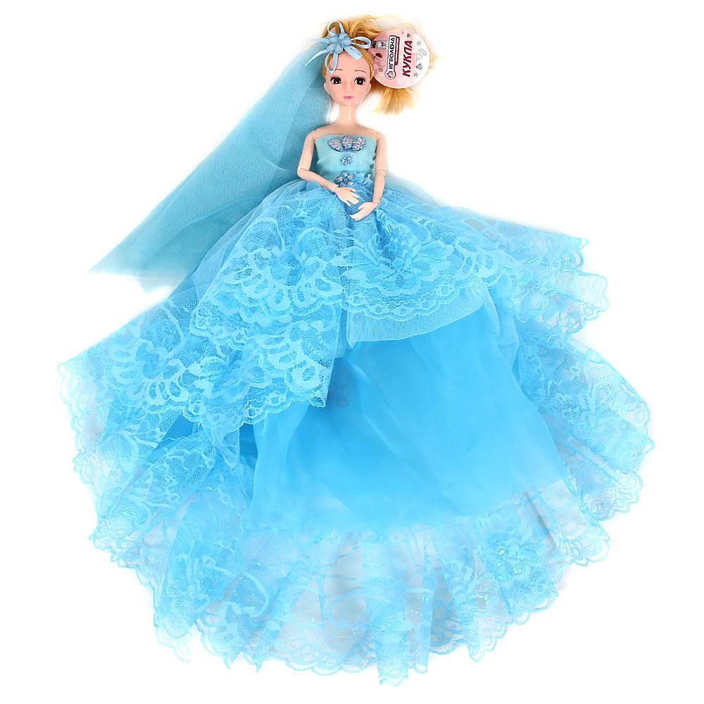 Кукла в пышном наряде, шарнирная, 30см, пластик, полиэстер, 4-6 цветов