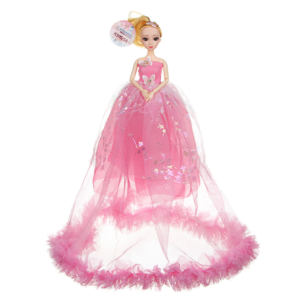 Кукла в пышном платье, 30см, пластик, полиэстер, 2 дизайна, 5-8 цветов