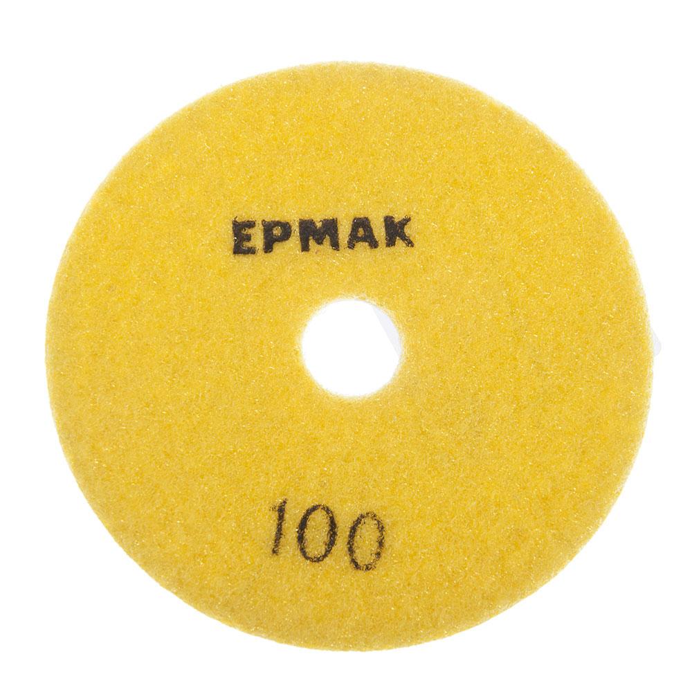 """ЕРМАК Круг алмазный, гибкий шлифовальный, полировальный """"Черепашка"""" 100мм №100"""