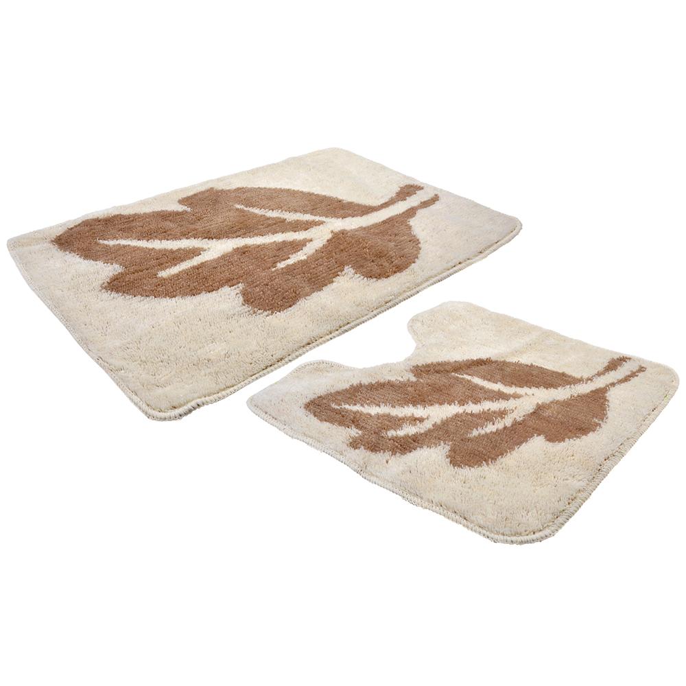 VETTA Набор ковриков 2шт для ванной и туалета, акрил, 50x80см + 50x50см, эконом 1