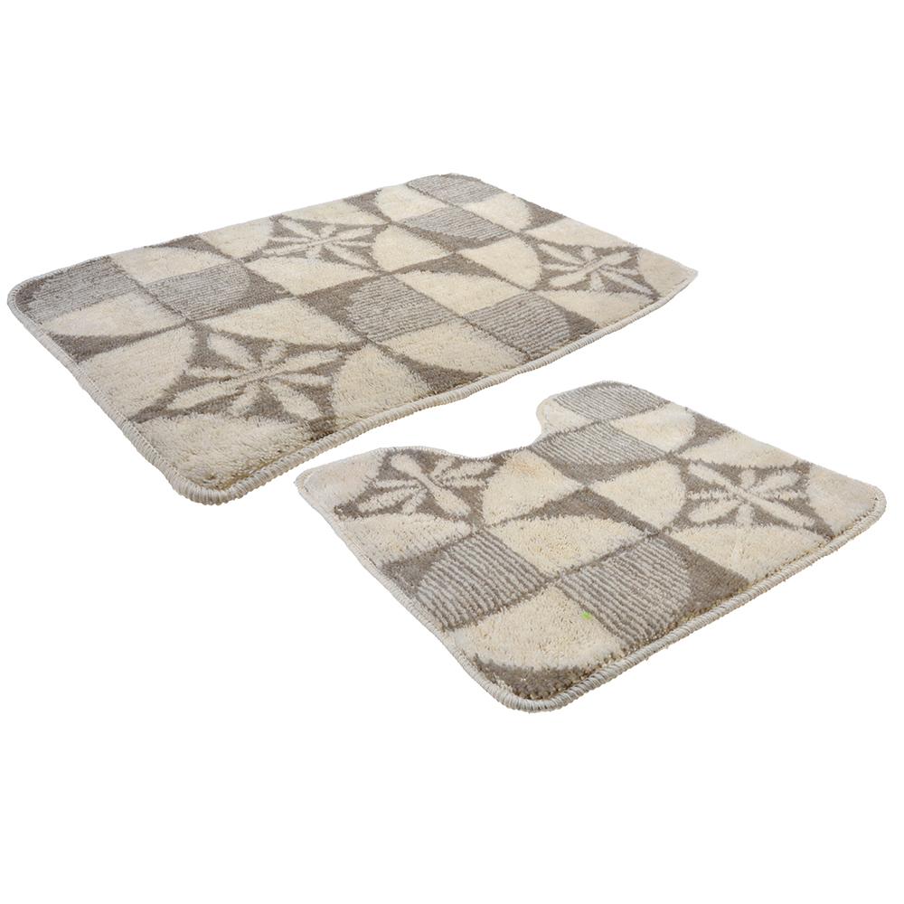 VETTA Набор ковриков 2шт для ванной и туалета, акрил, 50x80см + 50x50см, эконом 2