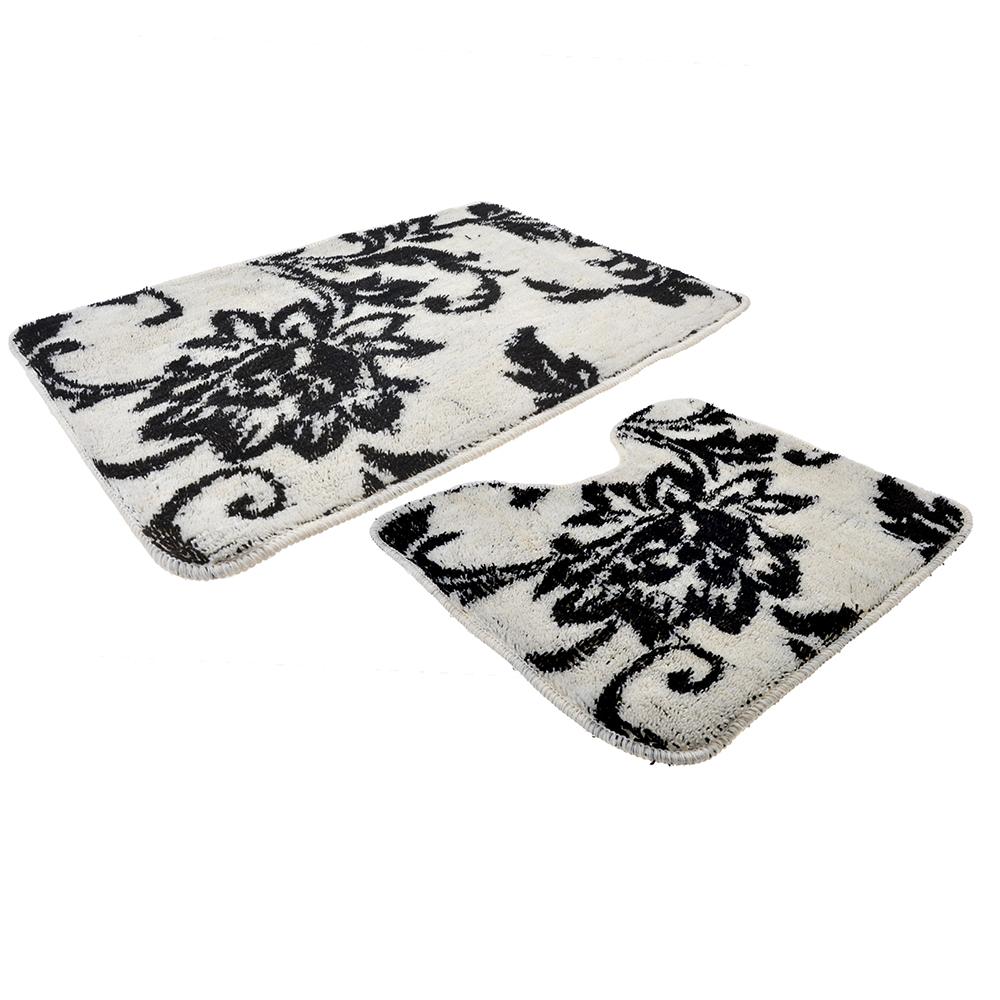 VETTA Набор ковриков 2шт для ванной и туалета, акрил, 50x80см + 50x50см, эконом 5