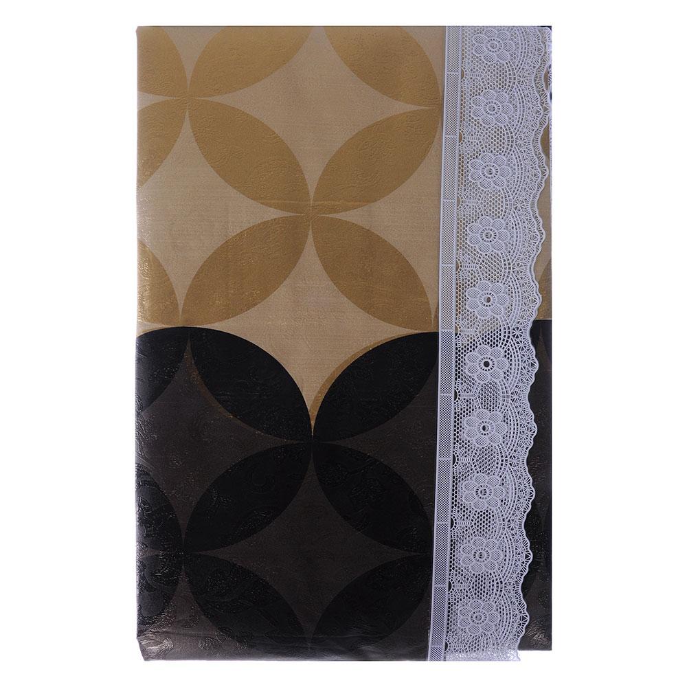 VETTA Скатерть виниловая тиснёная с каймой, 110х140см, орнамент