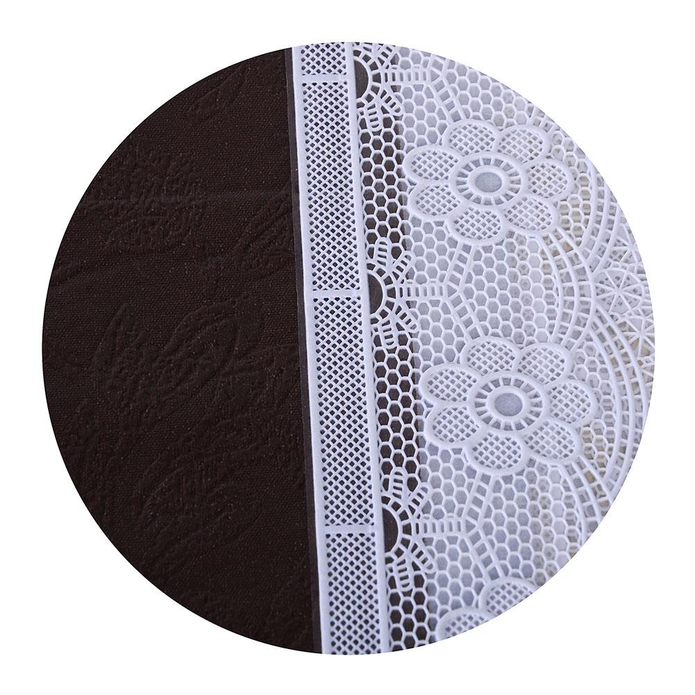 VETTA Скатерть виниловая с ажурной каймой, 120x152см, полосы престиж