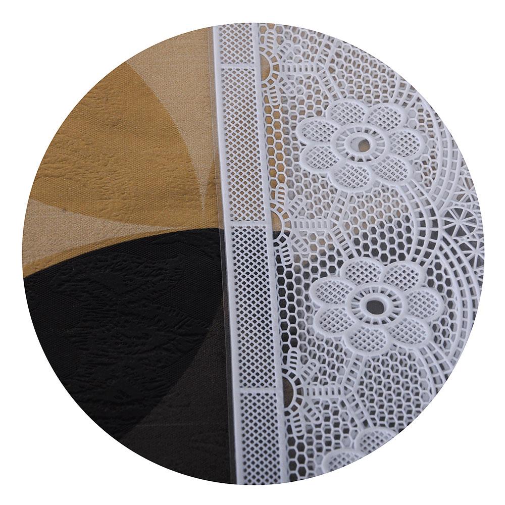 VETTA Скатерть виниловая тиснёная с каймой, 137х137см, орнамент