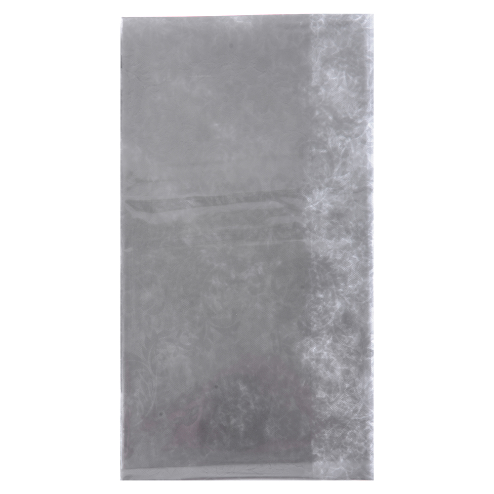 VETTA Скатерть виниловая прозрачная, 140х140см, вензель серебристая