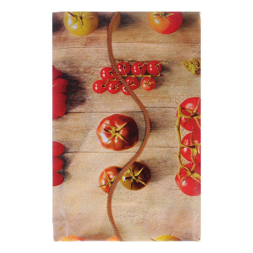 VETTA Скатерть виниловая тиснёная с каймой, 137х137см, овощи