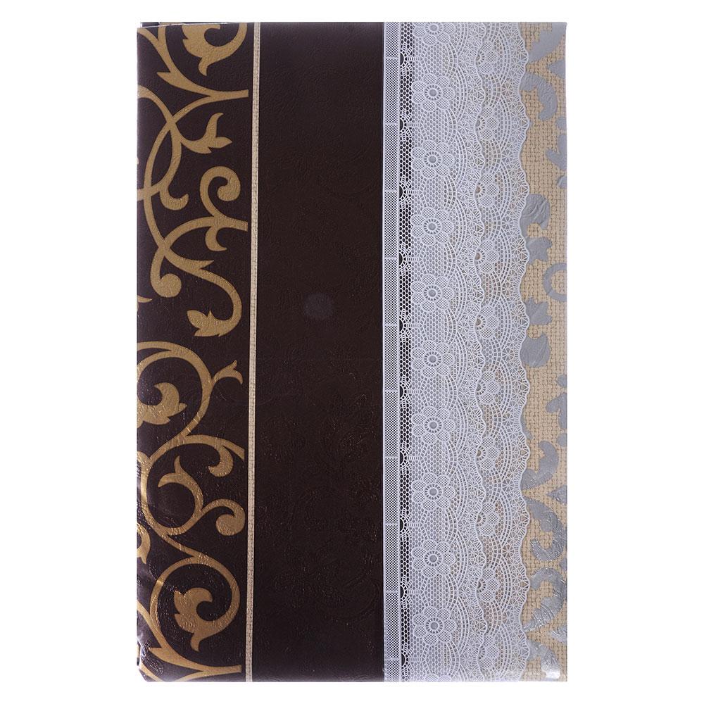 VETTA Скатерть виниловая с каймой, 137x182см, полосы, престиж