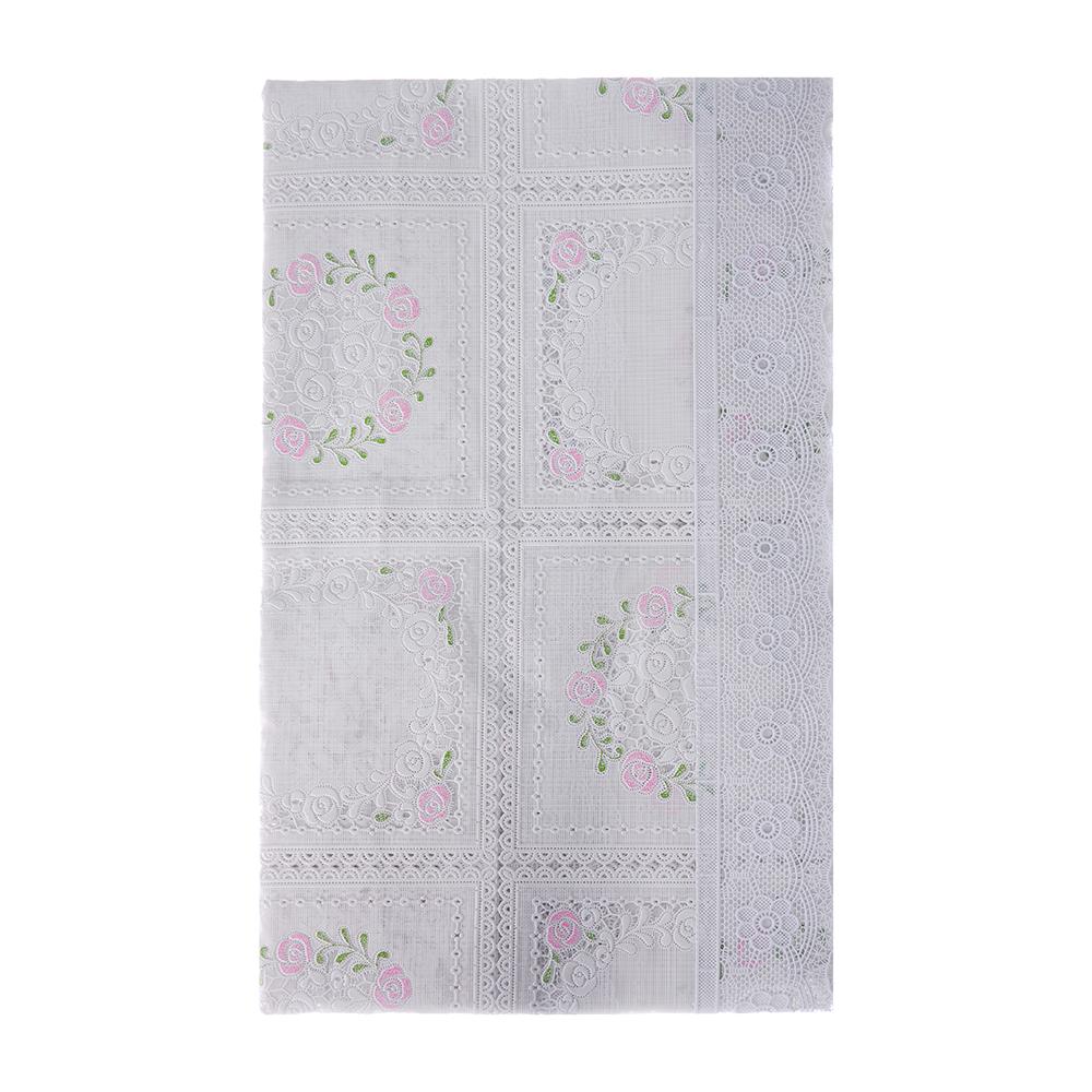 VETTA Скатерть ажурная 140x228см резная розовый цветок