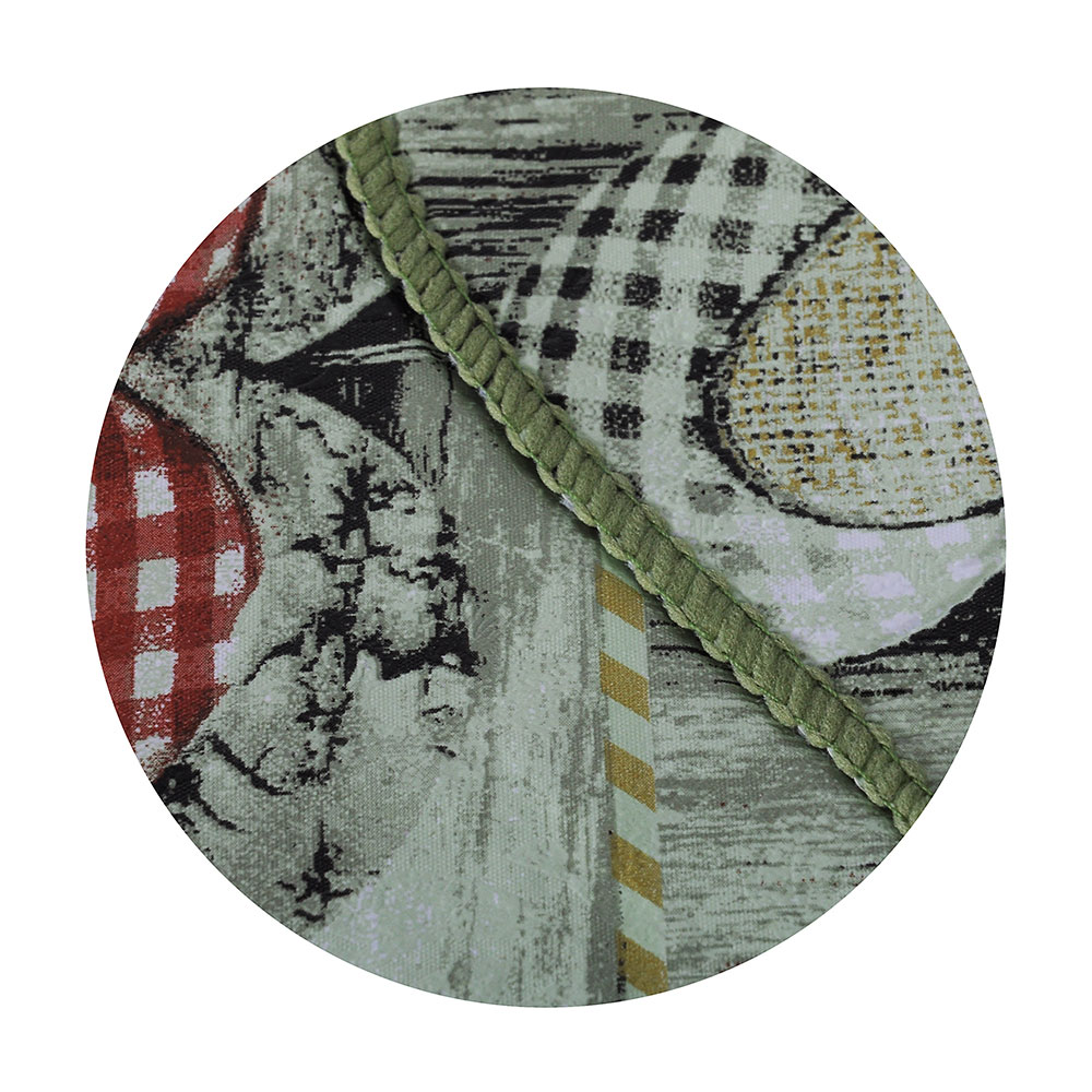 VETTA Скатерть виниловая тиснёная с ажурной каймой, d137см, сердца