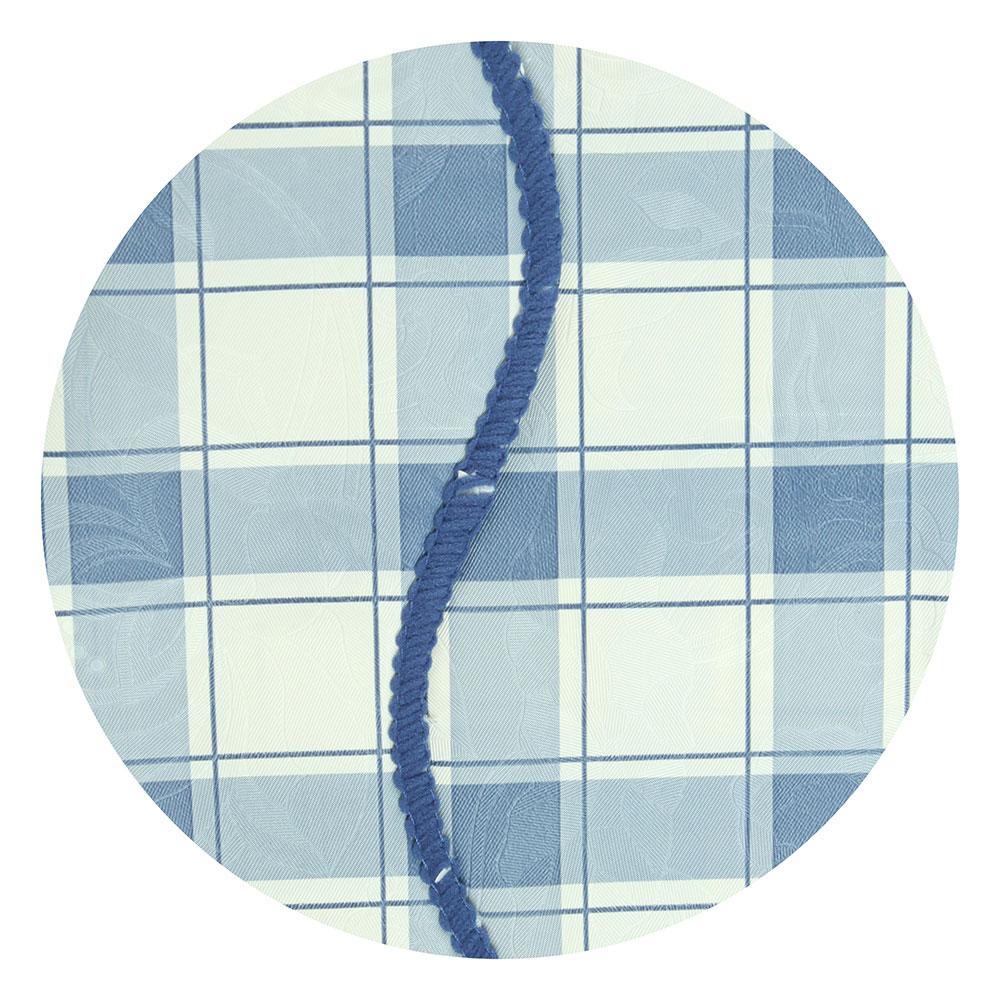 """Скатерть на стол виниловая, с ажурной каймой, 110x140см, VETTA """"Синяя клетка"""""""