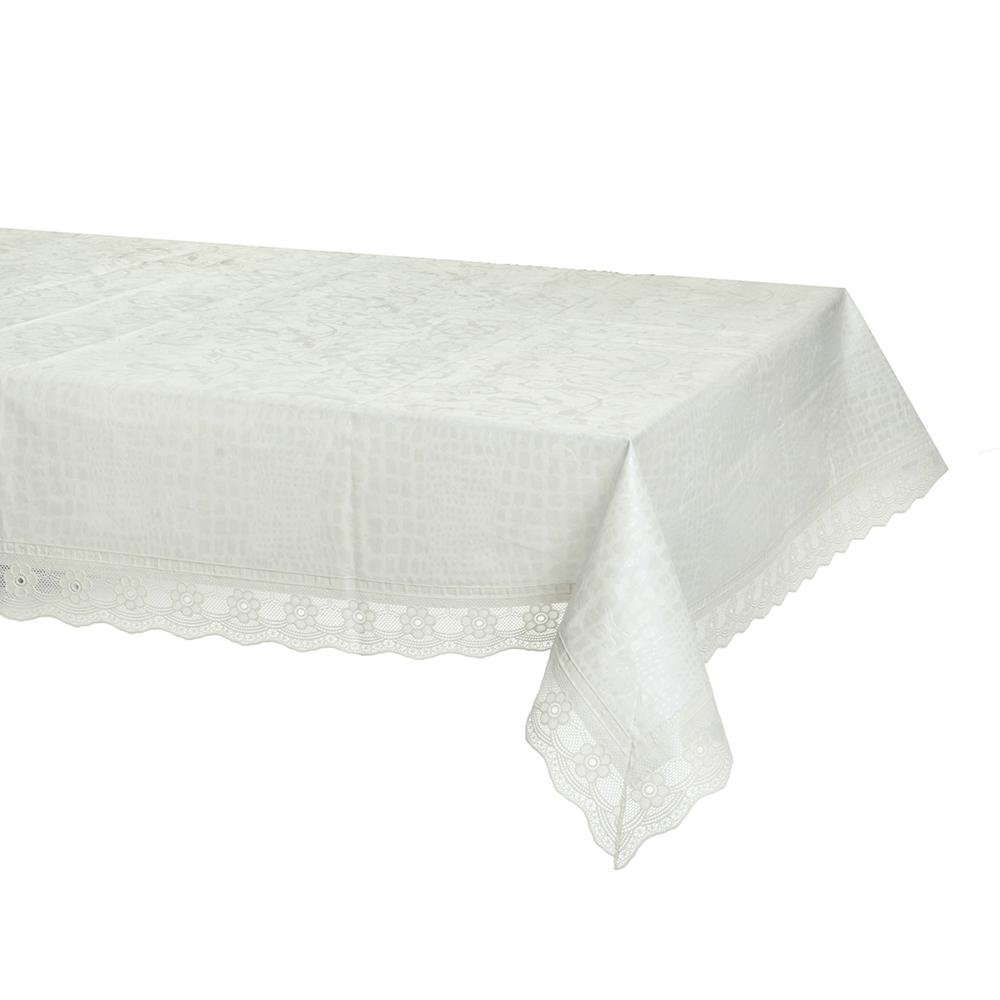 """Скатерть на стол виниловая, на фланелевой основе с ажурной каймой, 137x137см, VETTA """"Стиль"""""""
