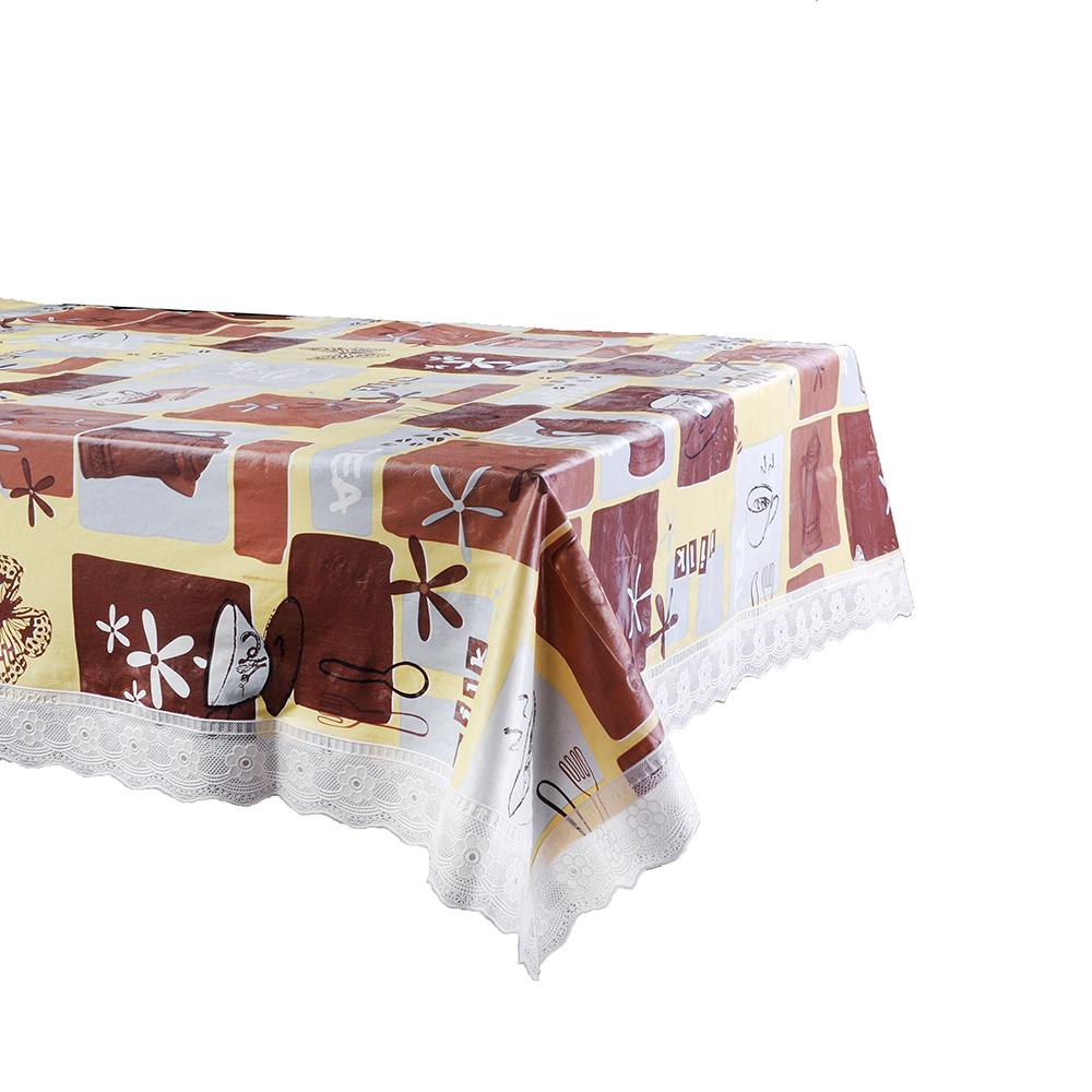 VETTA Скатерть виниловая с ажурной каймой, 137x182см, Чаепитие