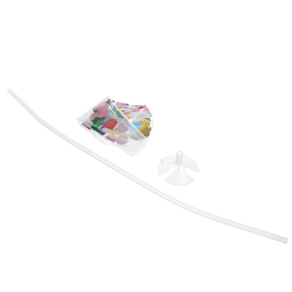 """Шар воздушный с наполнителем конфетти с палочкой и держателем, 18"""""""