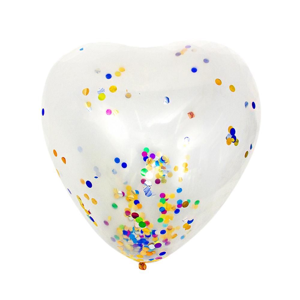 """Шар воздушный с наполнителем конфетти, в виде сердца, 80"""""""