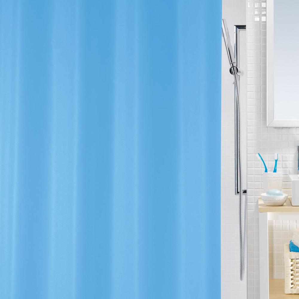 Шторка для ванной, полиэтилен, 180х180см, 3 цвета