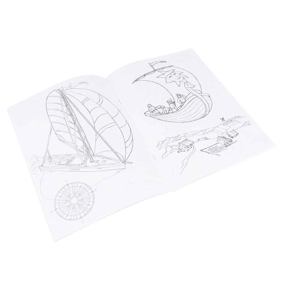 ЮТОН Раскраска с наклейками, бумага, 30х21см, 12 стр. + 2стр. наклеек, 8-10 дизайнов