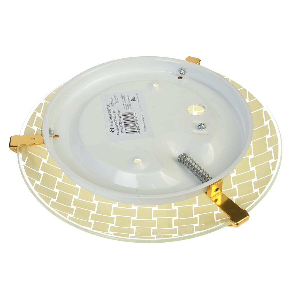Светильник Плетенка 25,5х25,5х11,5см, 60Вт, E27, стекло, металл