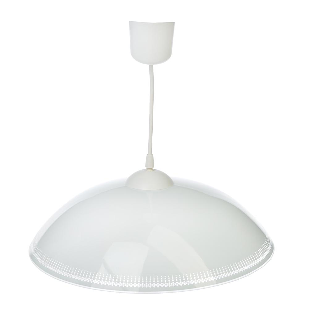 Светильник подвесной Кайма 350 мм, 60Вт, Е27, глянцевый, шнур белый, стекло