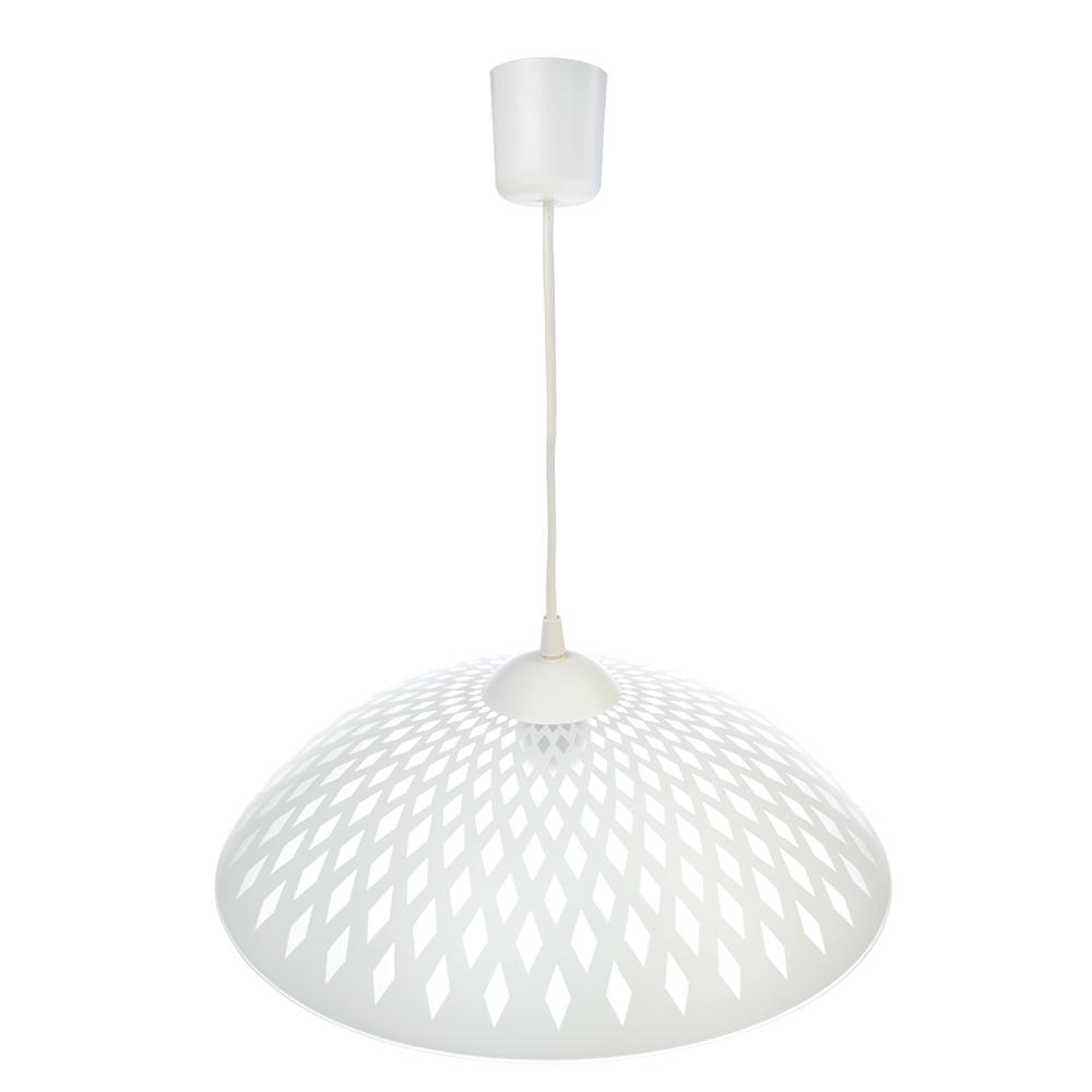 Светильник подвесной Вояж 37х37х13,5см, 60Вт, Е27, матовый, шнур белый, стекло