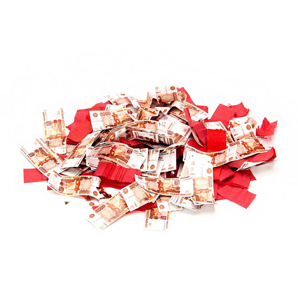 Хлопушка пневматическая, бумага, металл, 28 см, наполнитель бумага 5000 рублей и конфетти, дизайн 8