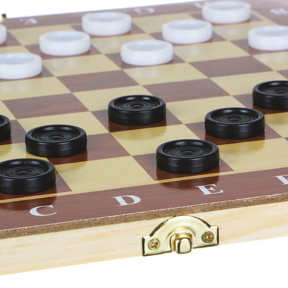 Настольная игра, шашки, дерево, пластик, 29х29см