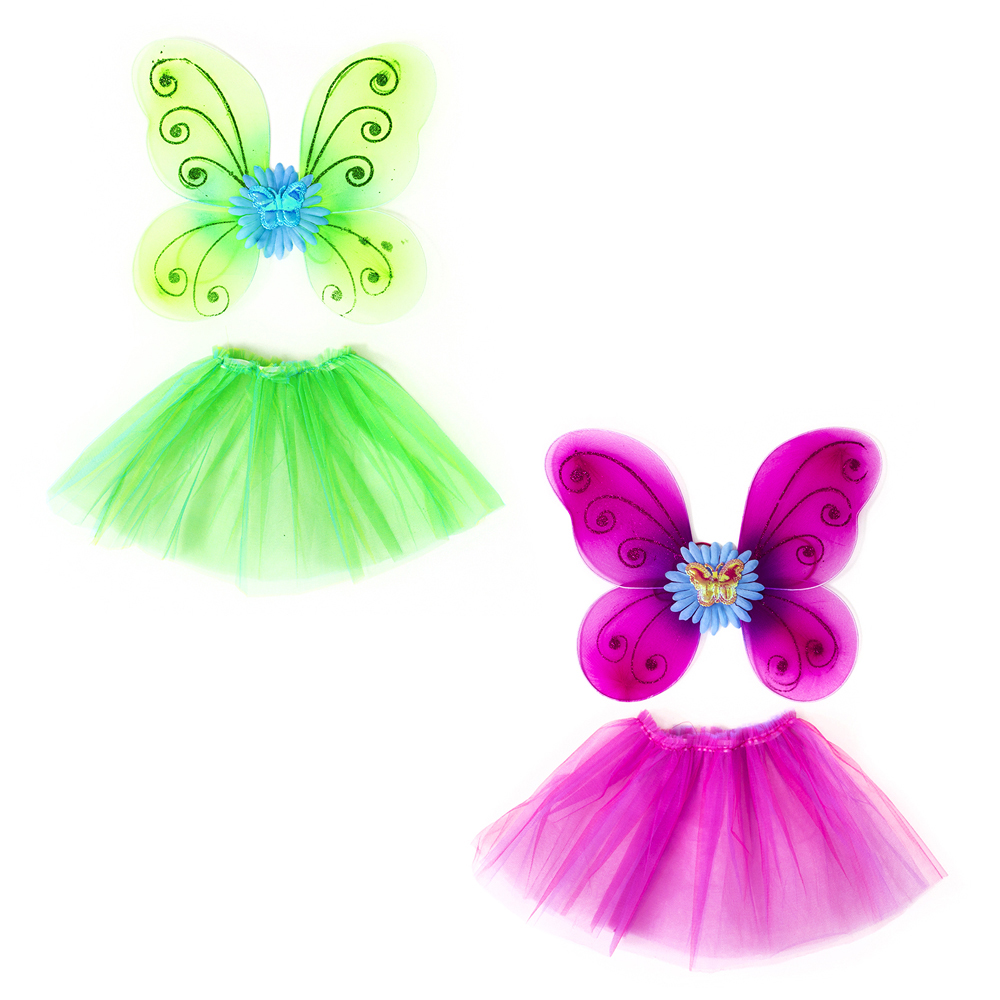 Костюм карнавальный юбка с крылышками, 2 предмета, полиэстер, СНОУ БУМ