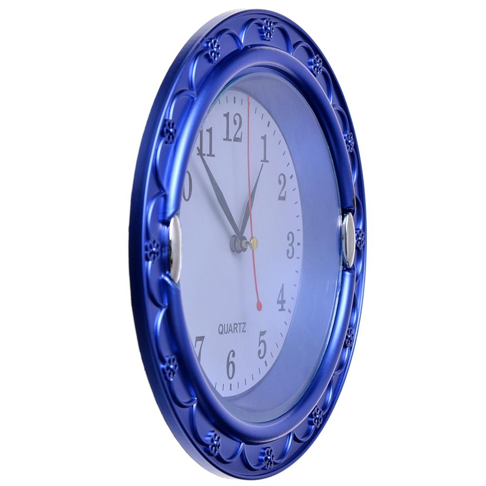 Часы настенные, пластик, 20см, 1хАА, 3 цвета