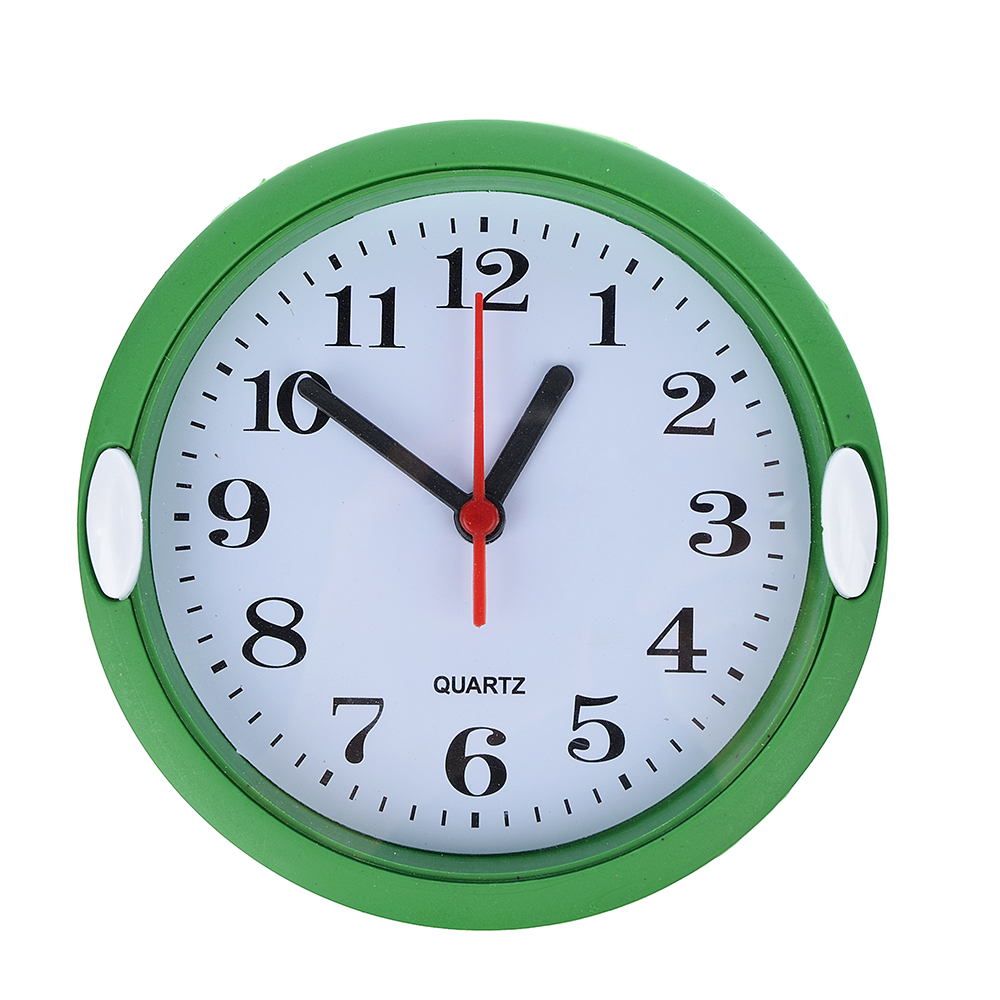 Часы настенные, пластик, 15,5см, 1хАА, 3 цвета, арт 4