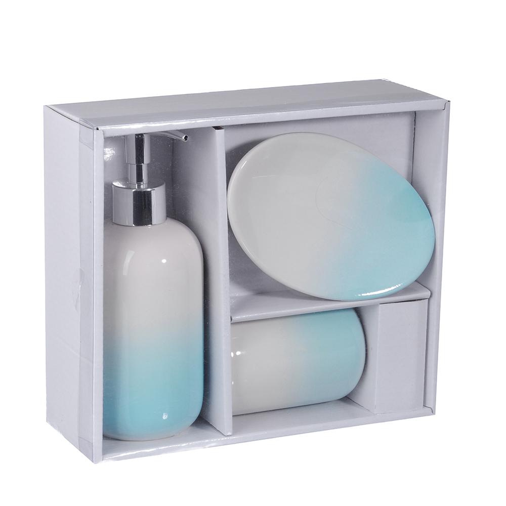 """Набор для ванной, керамика, 3 предмета, SonWelle """"Нежность"""""""