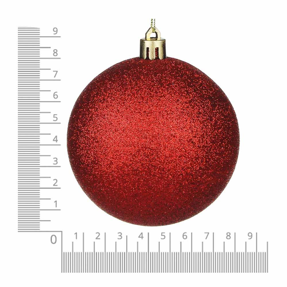 Елочные шары набор СНОУ БУМ 8 шт, 8см, пластик, в тубе, красный и золотой