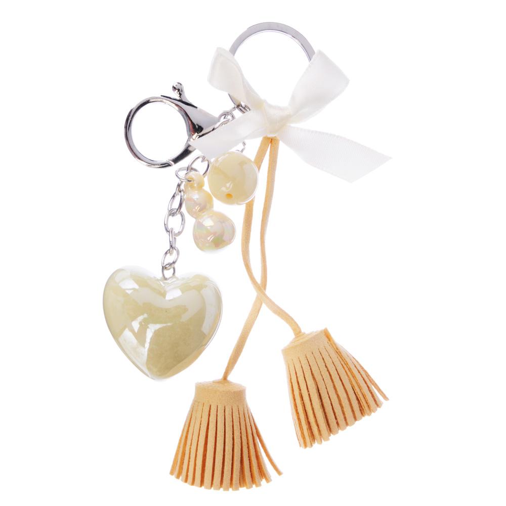 Брелок-подвеска в виде сердца с кисточками, 14,5см