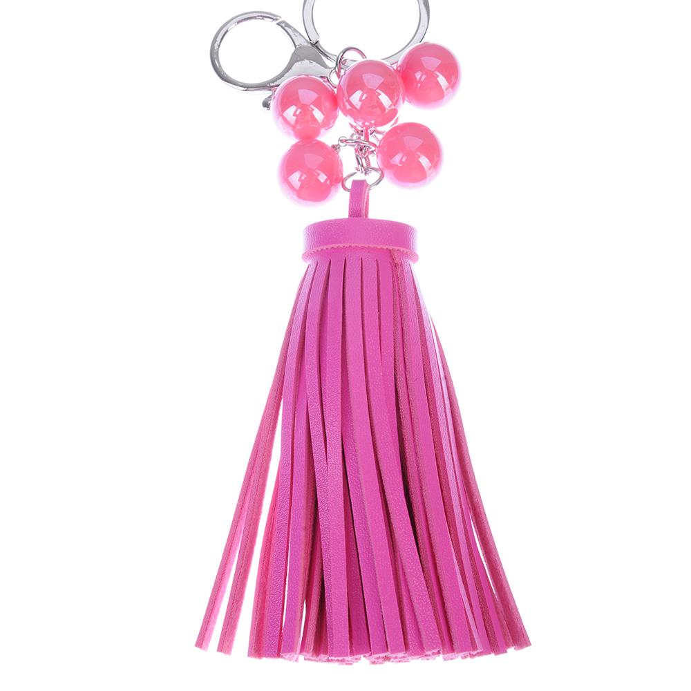 Брелок-подвеска, шарики с кисточками,16,5см
