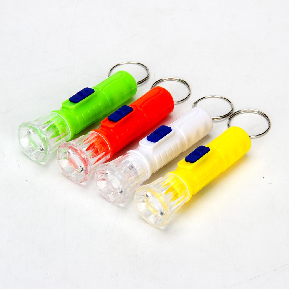 Брелок световой, пластик, 6-7см, 4 цвета