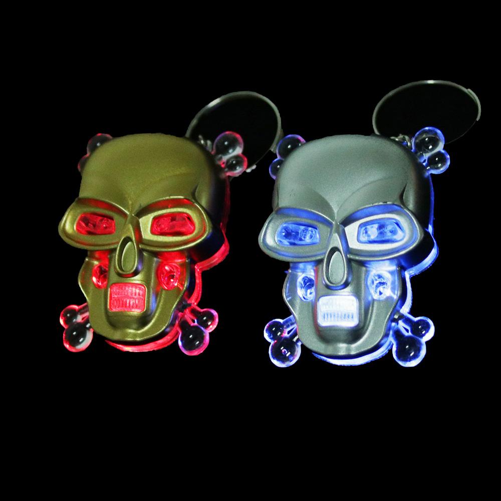 Брелок световой в виде черепа, пластик, 4-5см, 2 цвета