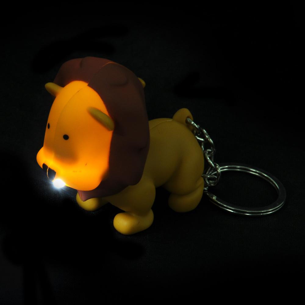 Брелок в форме льва, свет, звук, пластик, 10,5см
