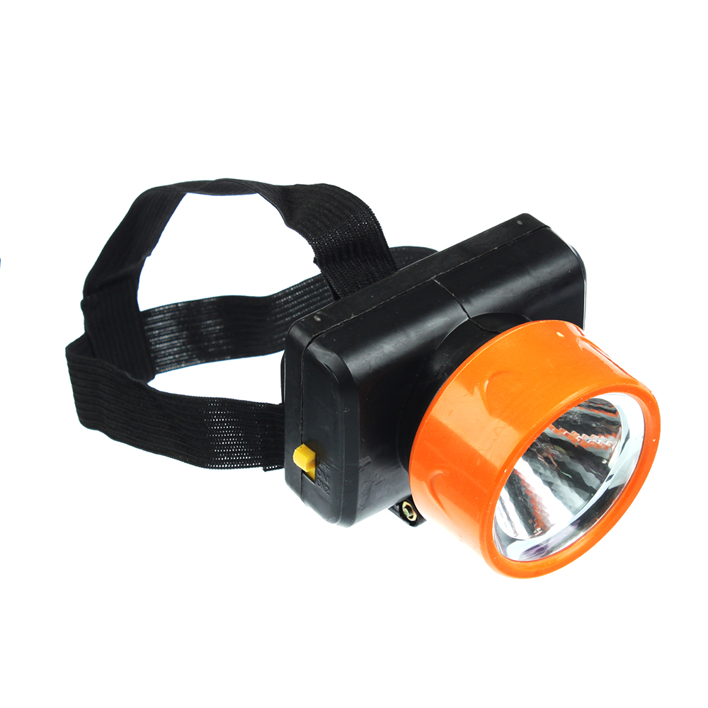 Фонарик налобный, 1 LED, 1Вт, 3*АА, 8х6см, пластик