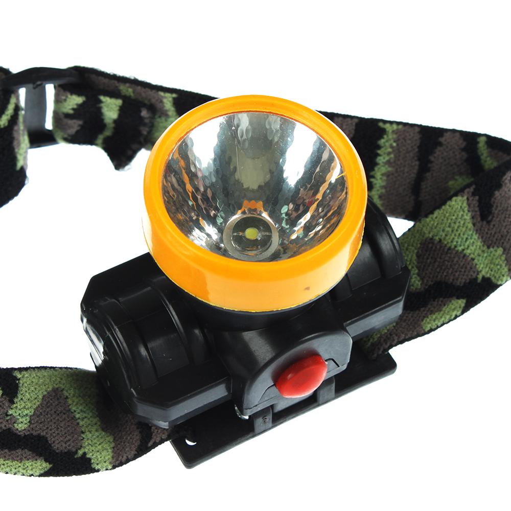 ЧИНГИСХАН Фонарик налобный, 1 LED, 0.5Вт, 1xАА, 6,5х7см, пластик, 1 режим