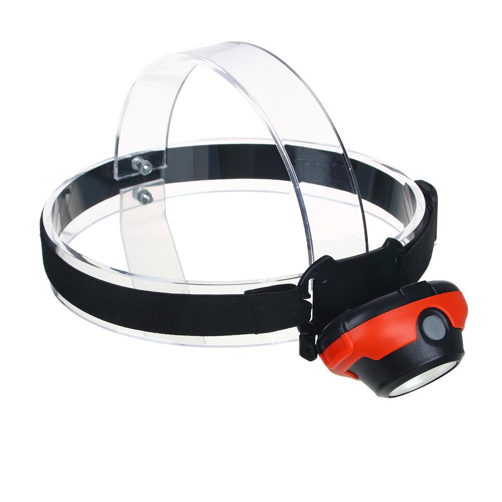 ЧИНГИСХАН Фонарик налобный, COB, 5Вт, 3xАAА, 6,5х4см, пластик, 3 режима