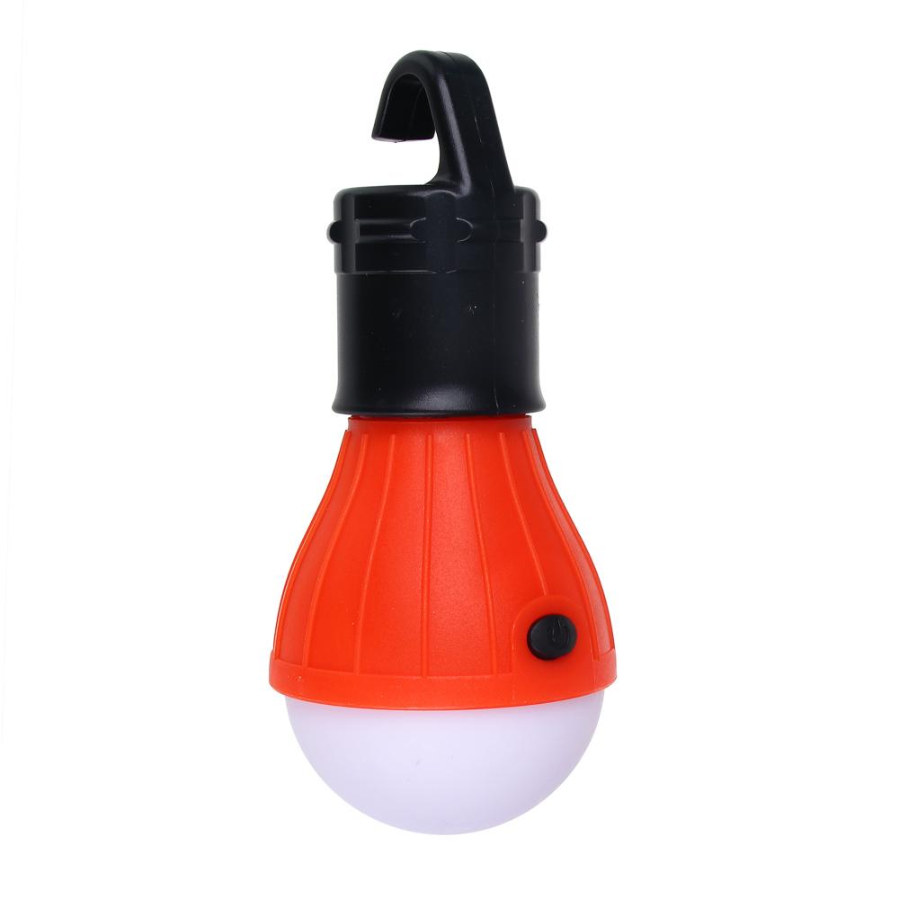 ЧИНГИСХАН Светильник кемпинговый подвесной, 3 LED, 2Вт, 3*АAА, 11.5х5х5см , пластик