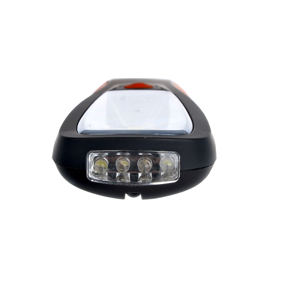 Фонарик подвесной, 1 COB + 4 LED сверху, 2Вт, 4*AAA, 20см, резинопластик, 2 режима