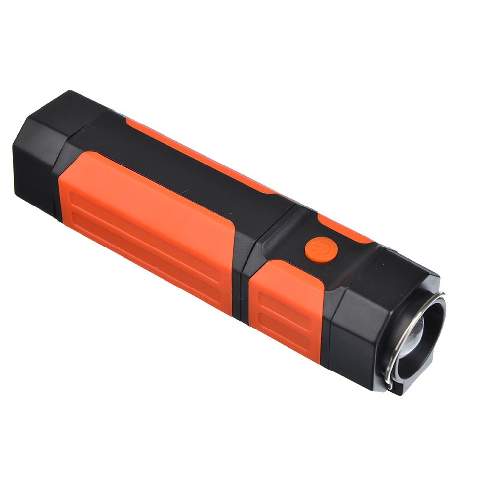 ЧИНГИСХАН Фонарь рабочий выдвижной, 1 COB+1 LED, 7+1Вт, 4*AAA, 21x3.6см, 2 режима, магнит
