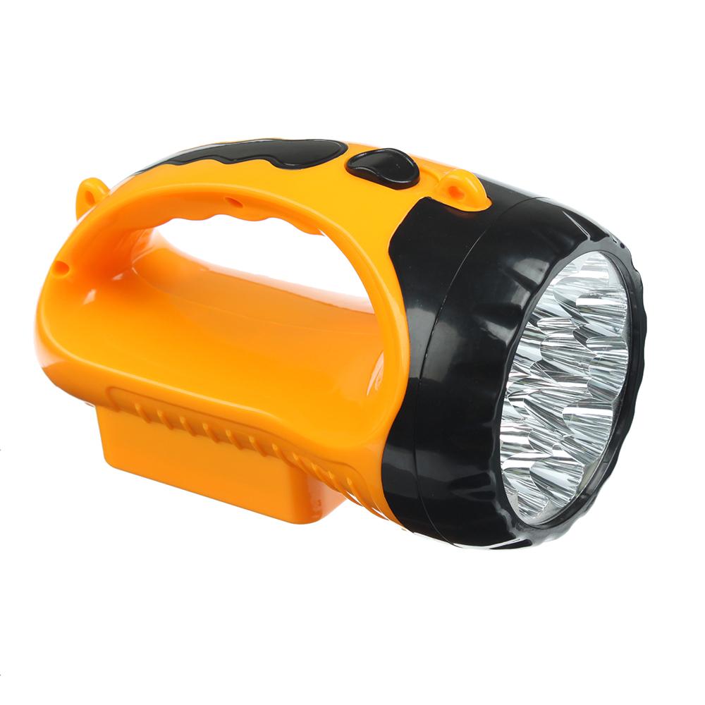 ЧИНГИСХАН Фонарь прожектор, 15 LED, аккумулятор 500мАч, 16х9см, пластик